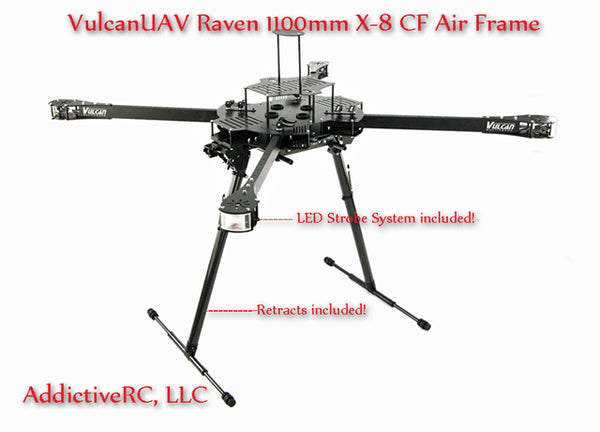VulcanUAV Raven X-8 1100mm Folding Air Frame Kit