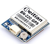 Beitian BN-220 GPS Module 3.6V-5.5V TTL Level Dual GNSS Module Built-in LED Flash for RC FPV Drone