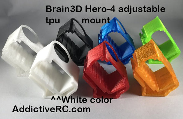 Brain3D Hero-4 Universal Adjustable TPU Mount-White