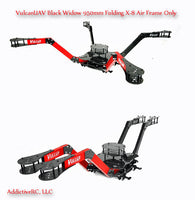 VulcanUAV Black Widow X8 950mm Folding Air Frame (No landing gear) Z-Arms (black)
