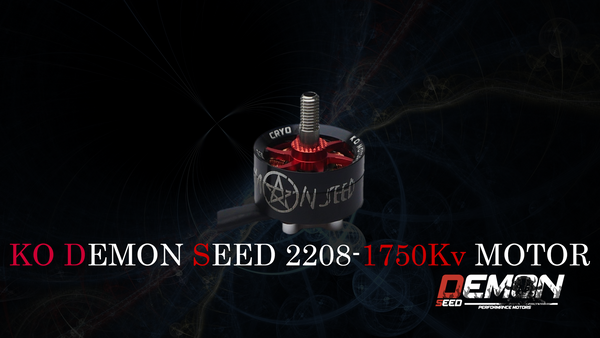 KO DEMON SEED CRYO 2208 1750KV - RED (1pcs.)
