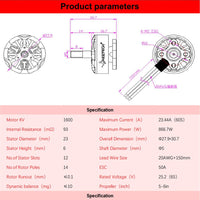 HGLRC Forward FD2306-1600KV 6S Brushless Motors (4pcs.)
