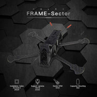 HGLRC Sector Freestyle 6 inch 260mm 3K Carbon Fiber Frame Kit for RC Drone FPV Racing