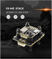HGLRC FD445 Stack FD F4 Mini Flight Control with FD45A 4 in 1 Mini BLHeli_32 2-6S ESC