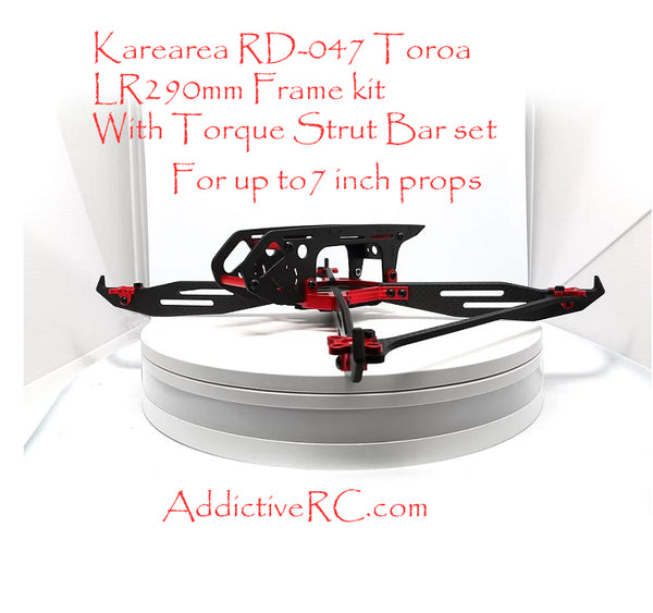 Karearea RD-047 Toroa with Torque Strut Bar LR290 CF Frame Set-RED
