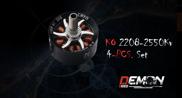 KO DEMON SEED 2208 2550KV - WHITE (4pcs.)