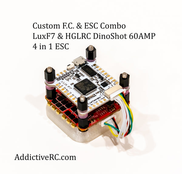 Lux F7 FC and HGLRC Dinoshot 60-amp 4 in 1 Super Combo