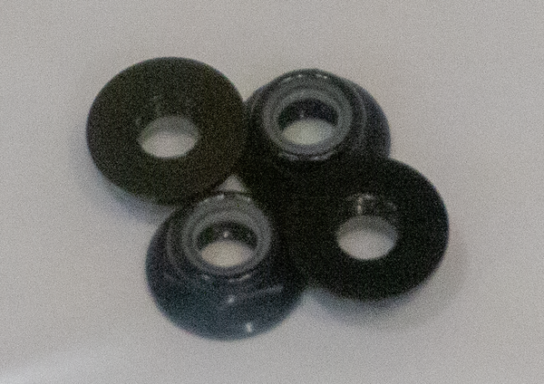 M5 Lock Nuts CW Flanged Nylon Insert Aluminum Alloy Self-Locking Nuts BLACK (4pcs.)