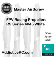 Master AirScrew RS FPV Racing-6x4.5 Prop Set x4 White