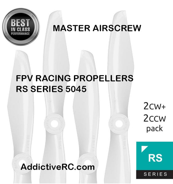 Master AirScrew RS FPV Racing-5x4.5 Prop Set x4 White