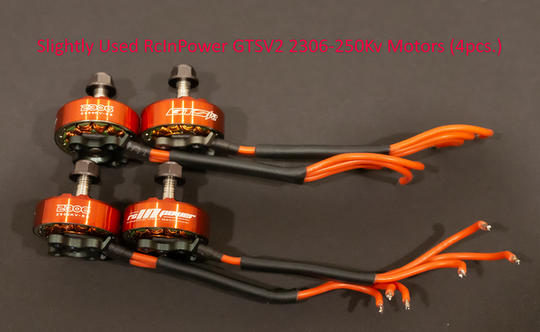 Slightly Used RcInPower GTSV2 2306 2500Kv 5S Motors (4pcs.)