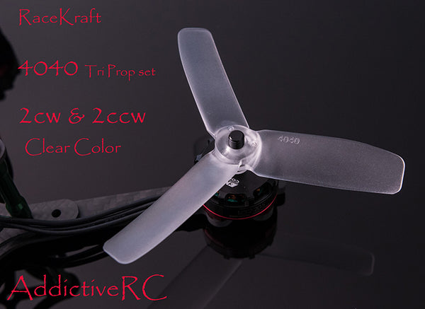 RACEKRAFT 4040 TRI CLEAR PROPS SET 2CW 2CCW
