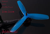 RaceKraft 5040 Tri Props set Clear Blue