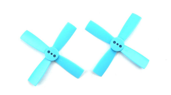 Racerstar 2035 50mm 4 Blade Propeller 1.5mm Mounting Hole For 80-110 RC Drone FPV Racing Multi Rotor-10 Pairs Blue