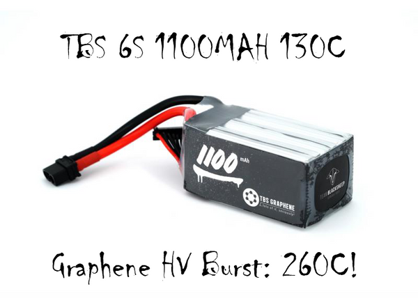 TBS GRAPHENE 1100MAH 6S HV Lipo Battery