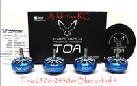 Karearea Premium Brushless motor Toa 2306-2450kv BLUE set of (4pcs.)