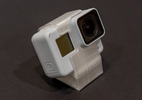 GoPro Hero 5/6/7 TPU Mount 30 dree (Clear White)