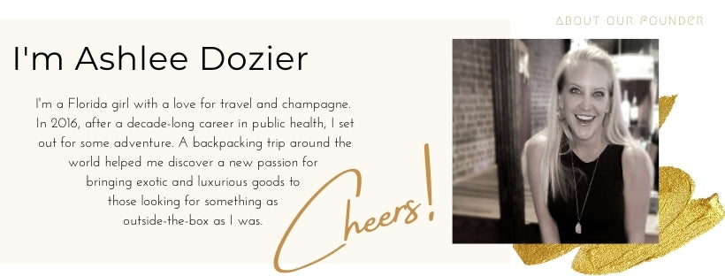 Graphic with photo and biography of fragrance company Anuket Luxury oils founder Ashlee Dozier