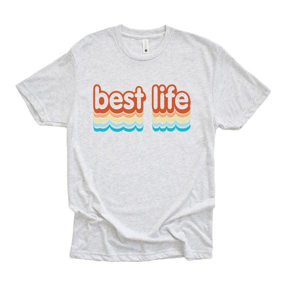 BEST LIFE SUMMER<br />NEXT LEVEL UNISEX TRIBLEND TEE <br />classic fit