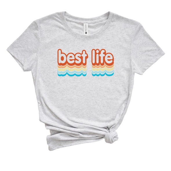 BEST LIFE SUMMER  <br />NEXT LEVEL WOMEN'S TRIBLEND TEE <br />slim fit