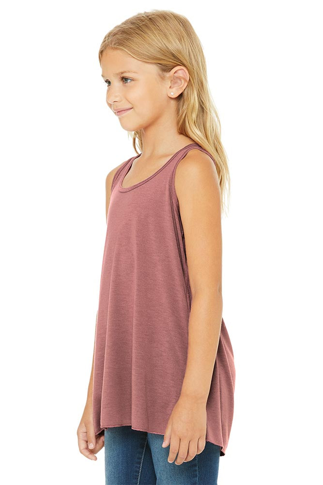 YOUTH FLOWY RACERBACK TANK <br />bella + canvas - humanKIND