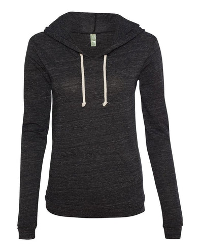 ALTERNATIVE LADIES' ECO JERSEY PULLOVER HOODIE slim fit - humanKIND shop with a purpose