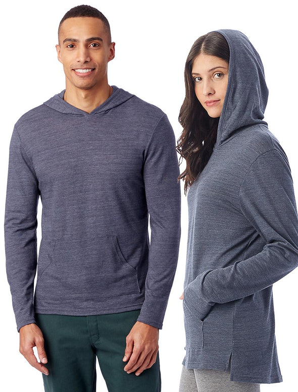 ALTERNATIVE UNISEX ECO JERSEY PULLOVER HOODIE (In Stock) slim fit - humanKIND shop with a purpose