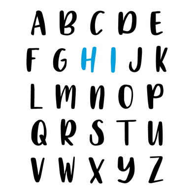 ALPHABET HI - humanKIND shop with a purpose