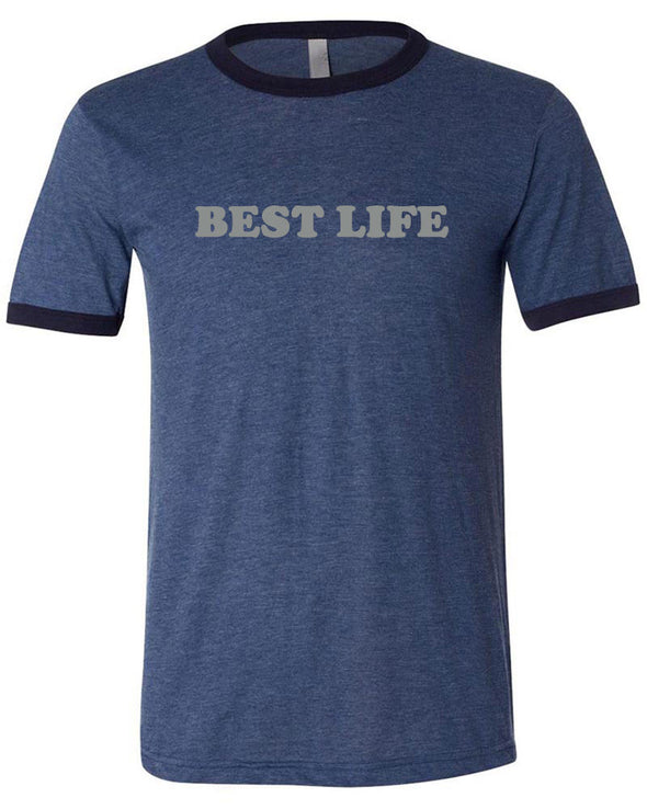 yEAHbestlife  UNISEX SHORT SLEEVE RINGER TEE <BR> bella + canvas - humanKIND shop with a purpose
