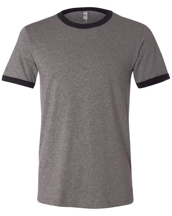 BELLA + CANVAS UNISEX SHORT SLEEVE RINGER TEE <BR />slim fit - humanKIND shop with a purpose