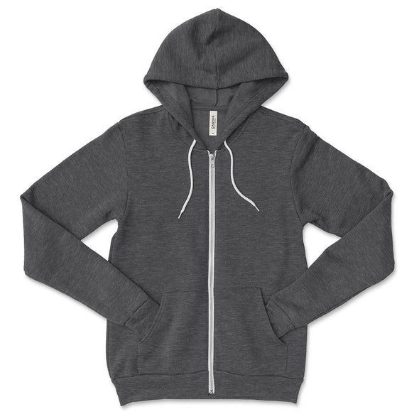 UNISEX ZIP HOODIE (In Stock) <br /> Bella + Canvas <br /> classic fit - humanKIND shop with a purpose