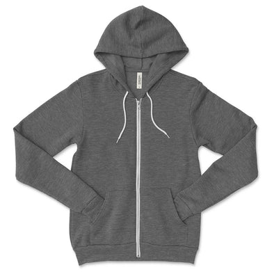 BELLA + CANVAS UNISEX FULL ZIP HOODIE (Sale) classic fit - humanKIND shop with a purpose