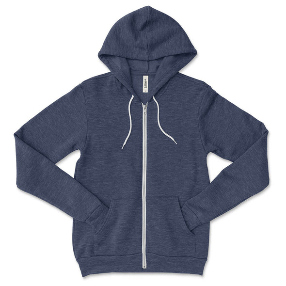WOOD OAKS BELLA + CANVAS UNISEX FULL ZIP HOODIE classic fit - humanKIND shop with a purpose