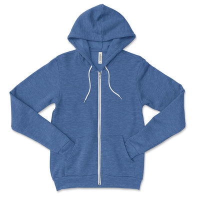BELLA + CANVAS UNISEX FULL ZIP HOODIE classic fit - humanKIND shop with a purpose