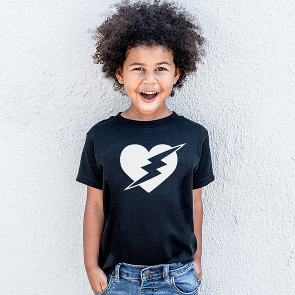 VALENTINES DAY-HEART WITH BOLT <br />YOUTH JERSEY TEE <br /> Next Level <br /> classic fit