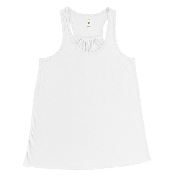BELLA + CANVAS LADIES' FLOWY RACERBACK TANK (In Stock)<br />flowy fit - humanKIND shop with a purpose