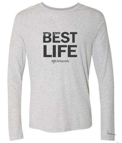 ORIGINAL LIVE YOUR BEST LIFE <br /> NEXT LEVEL UNISEX TRIBLEND LONG SLEEVE TEE<br />classic fit - humanKIND shop with a purpose