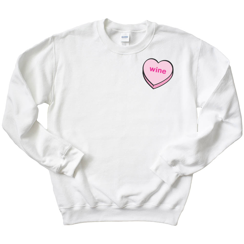 CONVERSATION HEART <br />WITH YOUR TEXT<br />UNISEX SWEATSHIRT<br /> classic fit