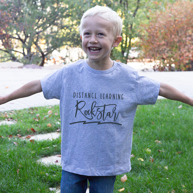 DISTANCE LEARNING ROCKSTAR NEXT LEVEL YOUTH TRIBLEND TEE