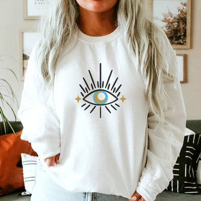 EYE WITH MOON<br />UNISEX SWEATSHIRT<br /> classic fit