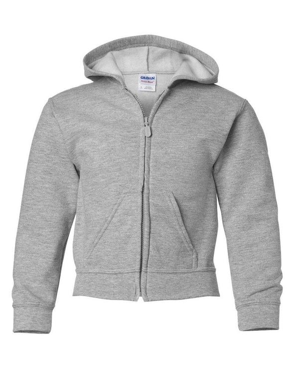 GILDAN YOUTH ZIP HOODIE <br />gildan - humanKIND shop with a purpose