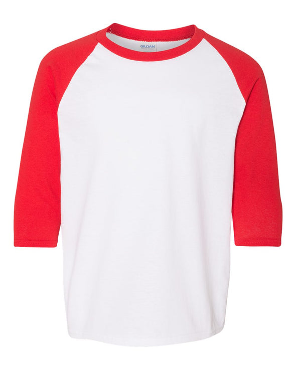 NORTHWOOD MIDDLE SCHOOL GILDAN 3/4 SLEEVE YOUTH BASEBALL TEE  <br />classic fit