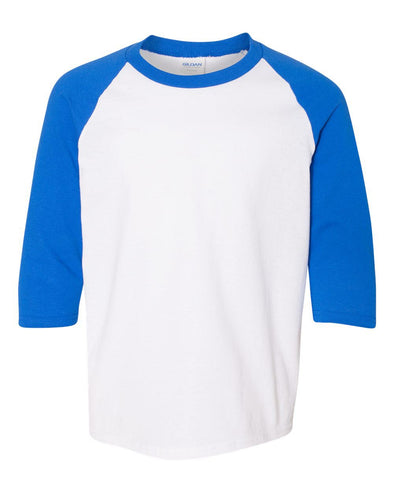 WILMETTE JUNIOR HIGH GILDAN 3/4 SLEEVE YOUTH BASEBALL TEE  <br />classic fit