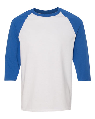 WILMETTE JUNIOR HIGH GILDAN 3/4 SLEEVE ADULT BASEBALL TEE  <br />classic fit