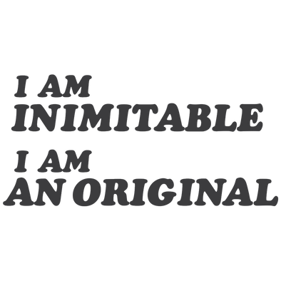 I AM INIMITABLE - humanKIND shop with a purpose