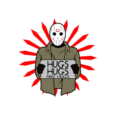 FRIDAY THE 13TH- JASON HUGS- JASON VOORHEES