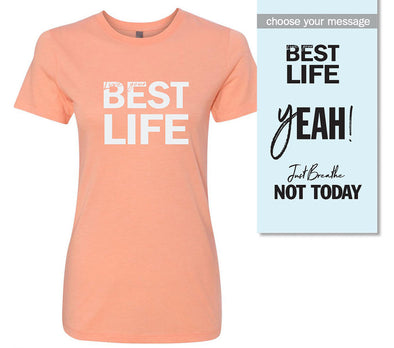 yEAHbestlife <br />WOMEN'S TRIBLEND TEE <br />next level - humanKIND shop with a purpose