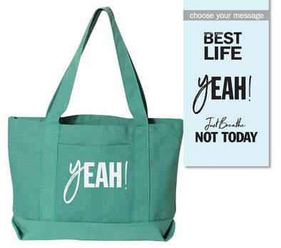 yEAHbestlife™ <br />CANVAS TOTE <br />liberty bags - humanKIND shop with a purpose