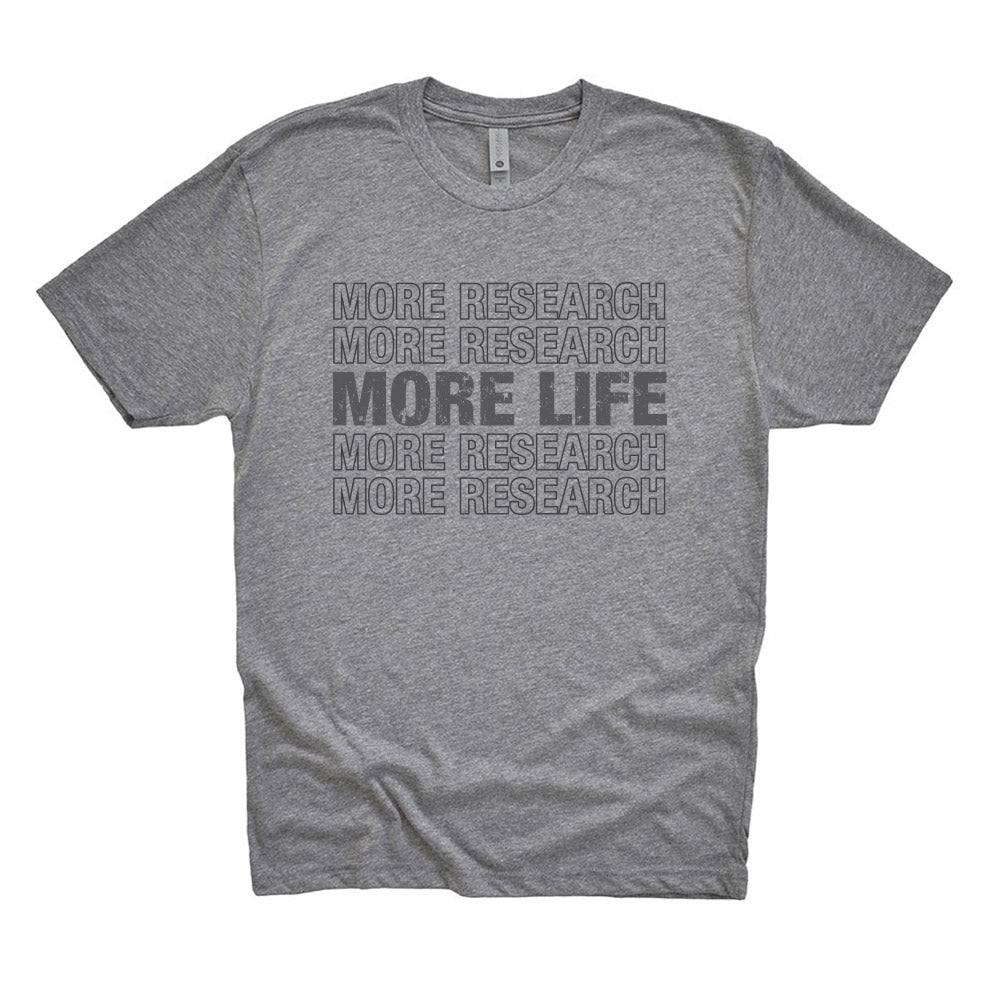MORE RESEARCH MORE LIFE REPEATER<br />unisex triblend tee <br />classic fit