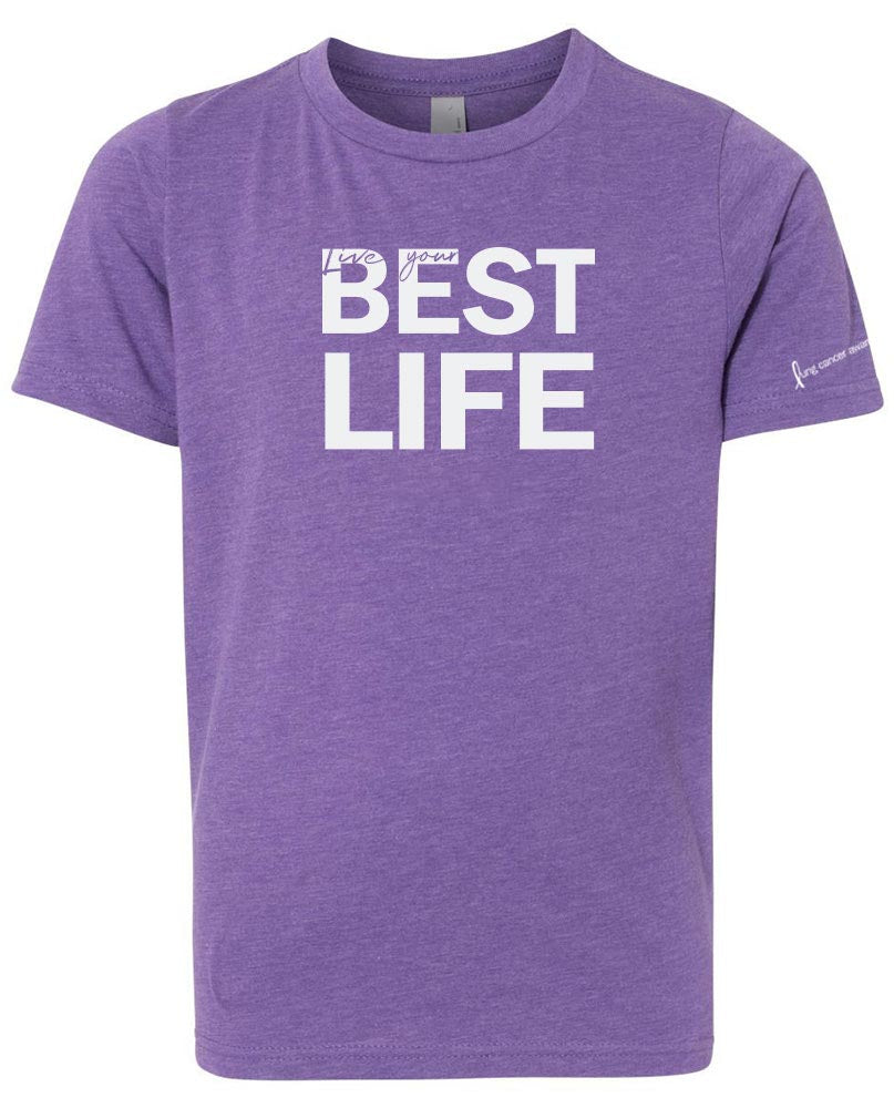 ORIGINAL LIVE YOUR BEST LIFE <br />NEXT LEVEL YOUTH TRIBLEND TEE<br />classic fit - humanKIND shop with a purpose